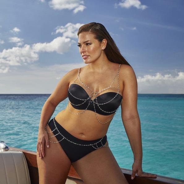 Ashley Graham swimsuitsforall kopalke za mocnejse postave