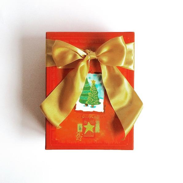 Beautyfullblog secret Santa bozicno darilo s pentljo