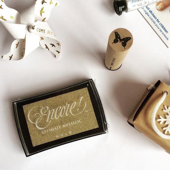 Beautyfullblog secret santa zlata balzinica za stemplanje