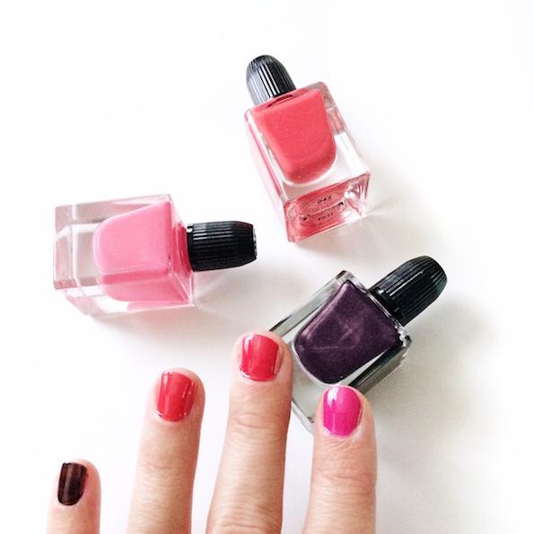 Beautyfullblog Guerlain pomladni makeup look Nail polish