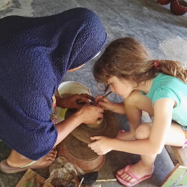 Beautyfullblog Lombok Potery for kids