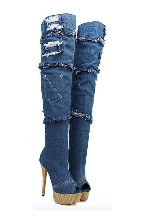 Jeans Moonwalk Boots