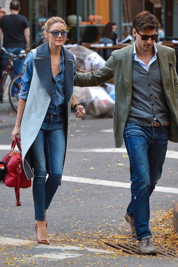 Jeans Olivia-Palermo-Wearing-Jeans-Vest by popsugar