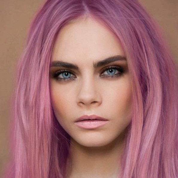 pastelna barva obrvi cara delavigne beautyfullblog 2