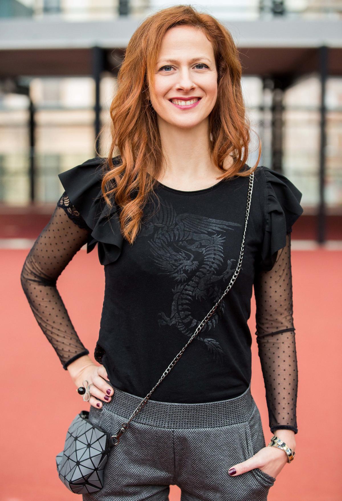 Portrait of Slovenian blogger Nika Veger Narodna galerija, Ljubljana, Slovenia. Photo by Vid Ponikvar / Sportida
