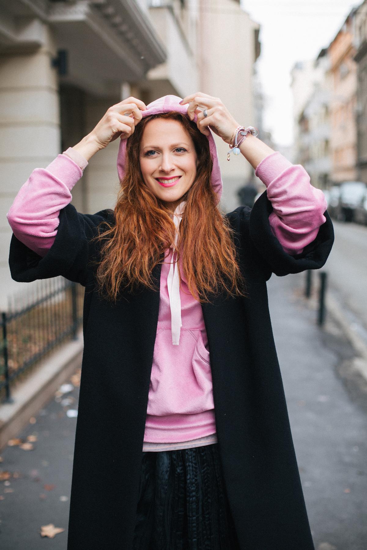 Beograd slovenska moda Nika Veger Beutyfullblog roza pulover maja stamol foto Jovana Tomasevic