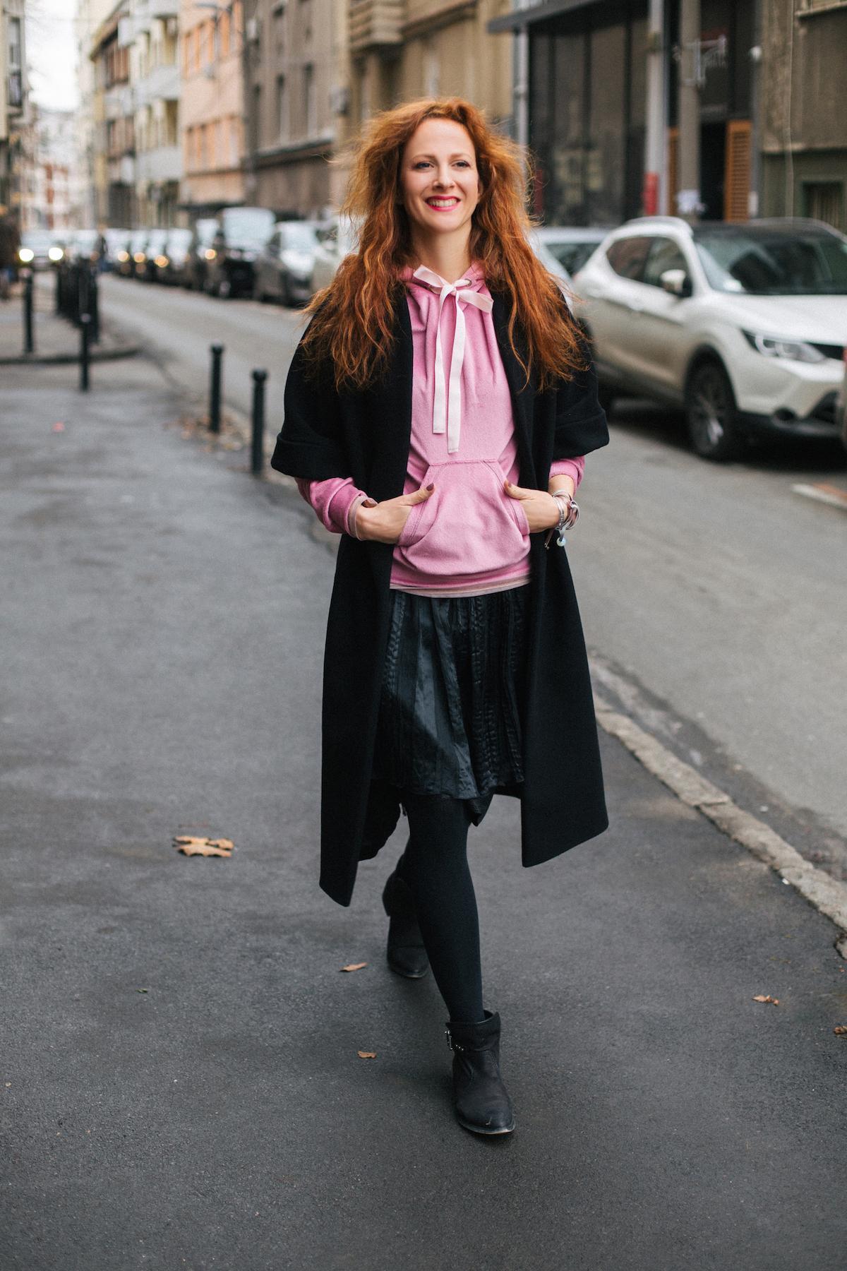 readhead street style Nika Veger Beutyfullblog by Jovana Tomasevic