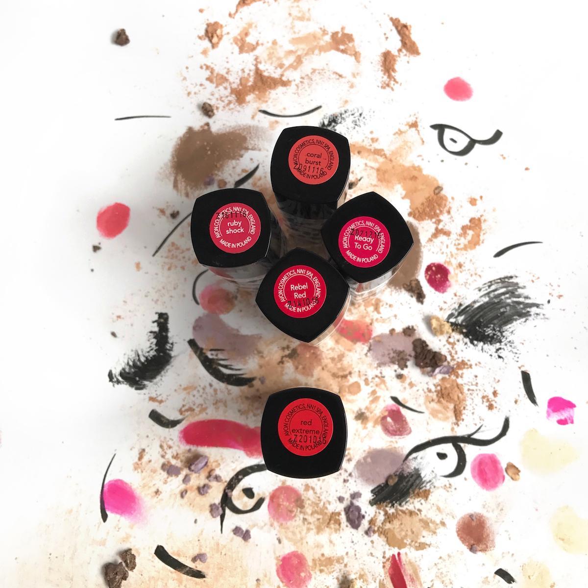 Avon Mark Lipstick Red Tones Beautyfullblog
