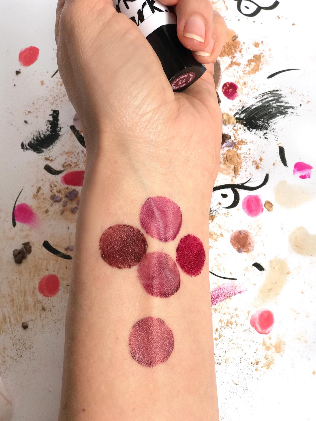 Avon Mark Lipstick Berry Tones Swatches Beautyfullblog