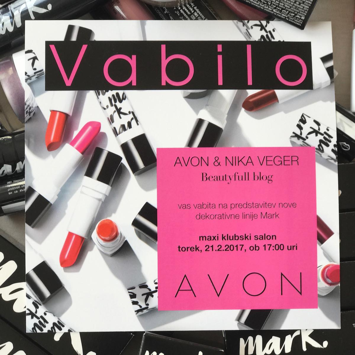 Avon Mark licila press event vabilo