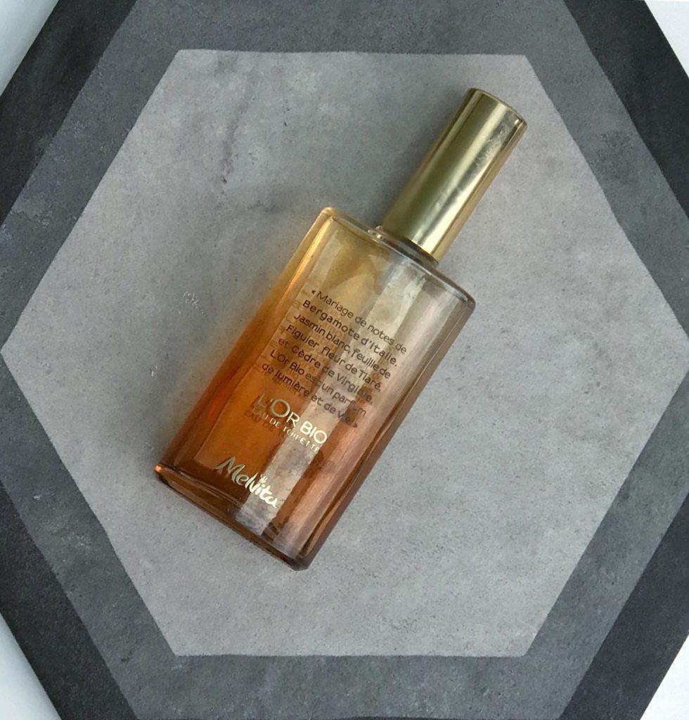 Melvita organska kozmetika naravna dišava toaletna vodica L'Or bio Beautyfull blog