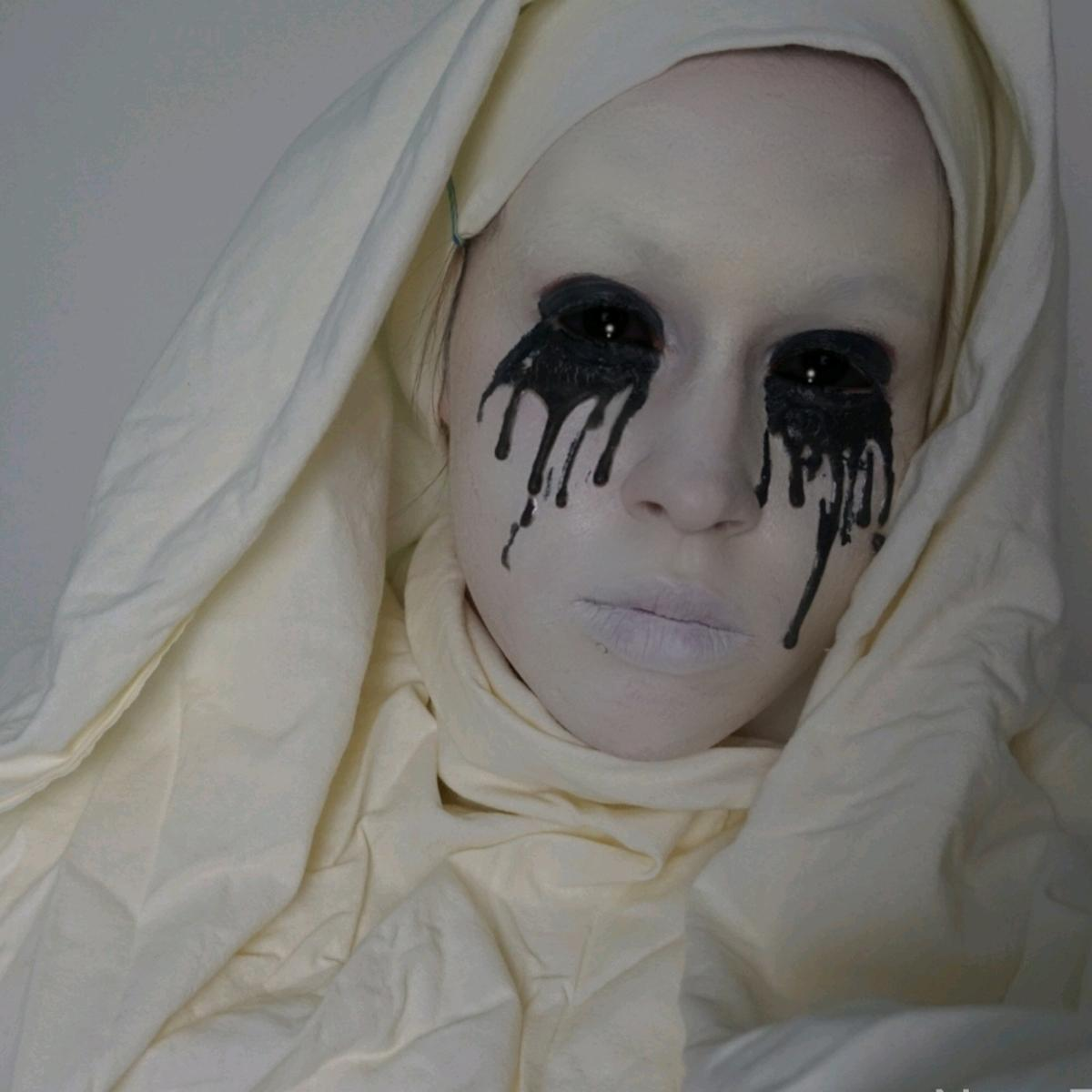 Maja Gorenc Halloween Makeup Beautyfullblog weeping nun
