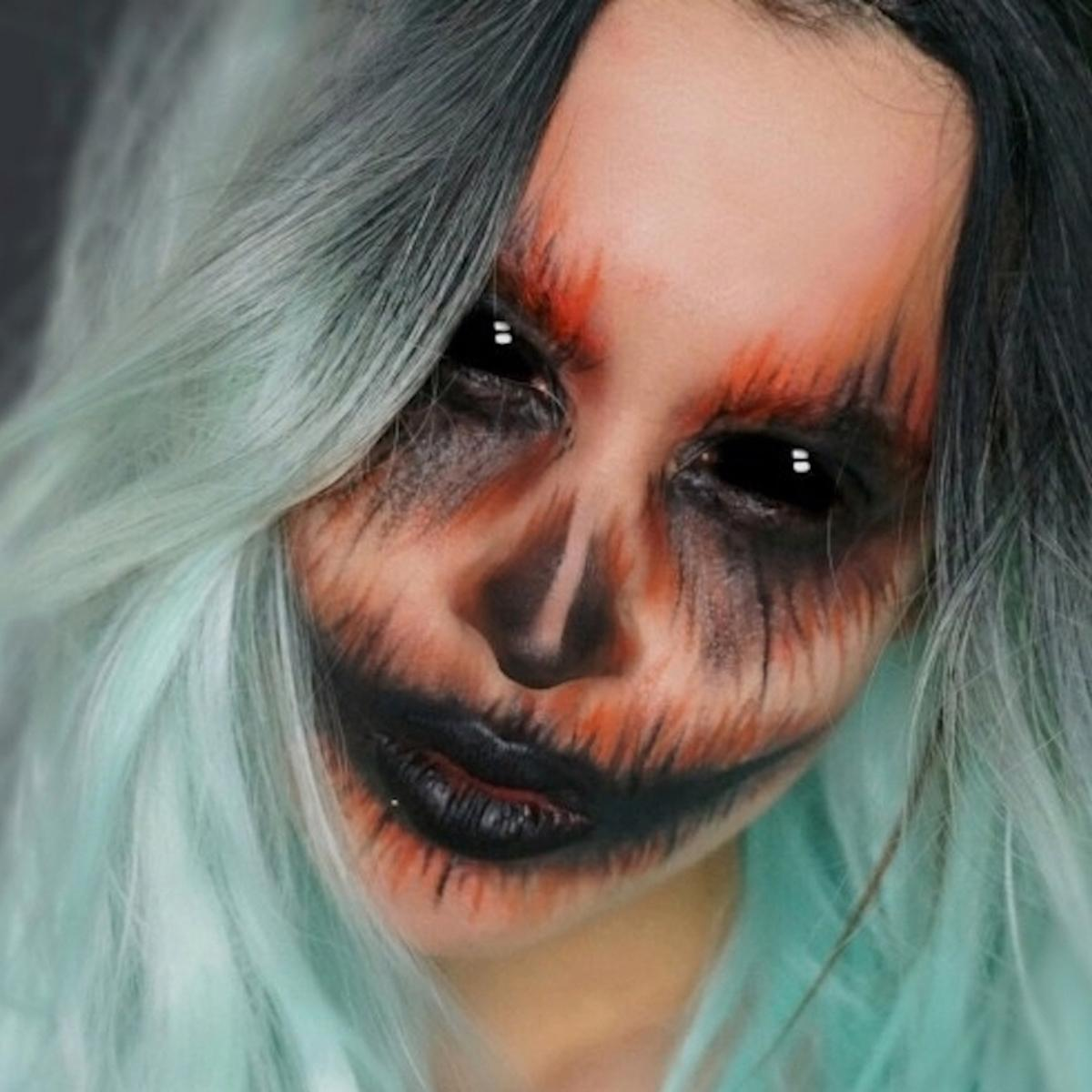 Maja Gorenc Halloween Makeup Beautyfullblog possessed pumpkin