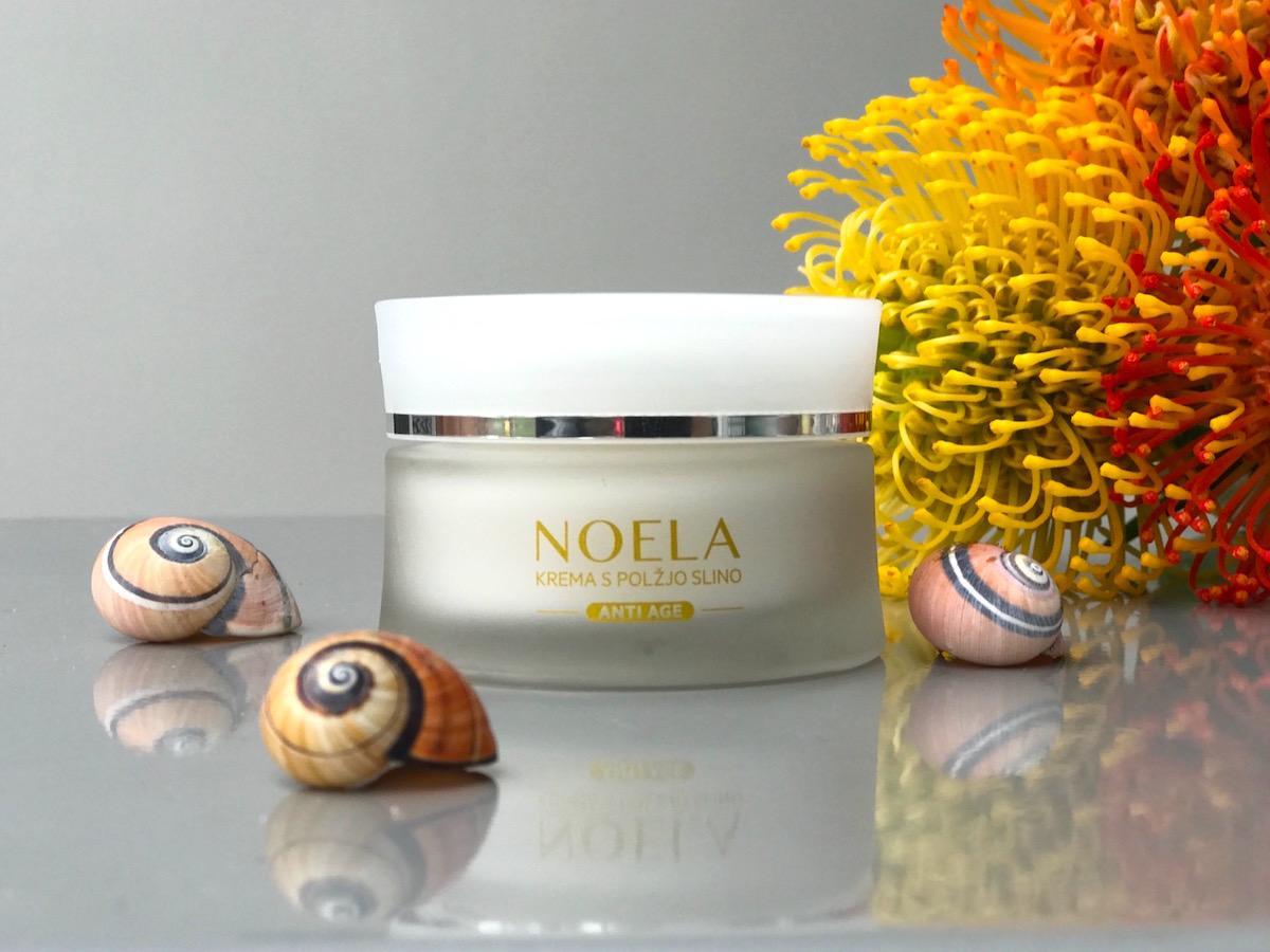 Slovenska kozmetika Noela krema polžja slina Beautiyfullblog Startaj Slovenija