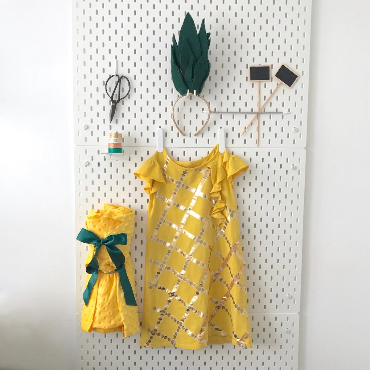 DIY naredi pustno kostum za otroke ananas