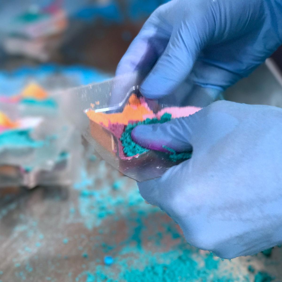 Lush Cosmetics Tour Factory Beautyfull Blog Bath Bomb how is made star light star bright
