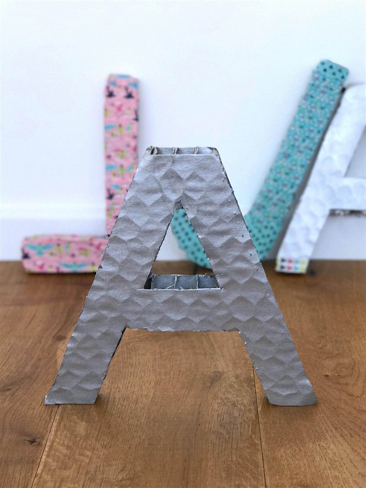 Ikea diy okrasne crke iz kartona Beautyfull Blog