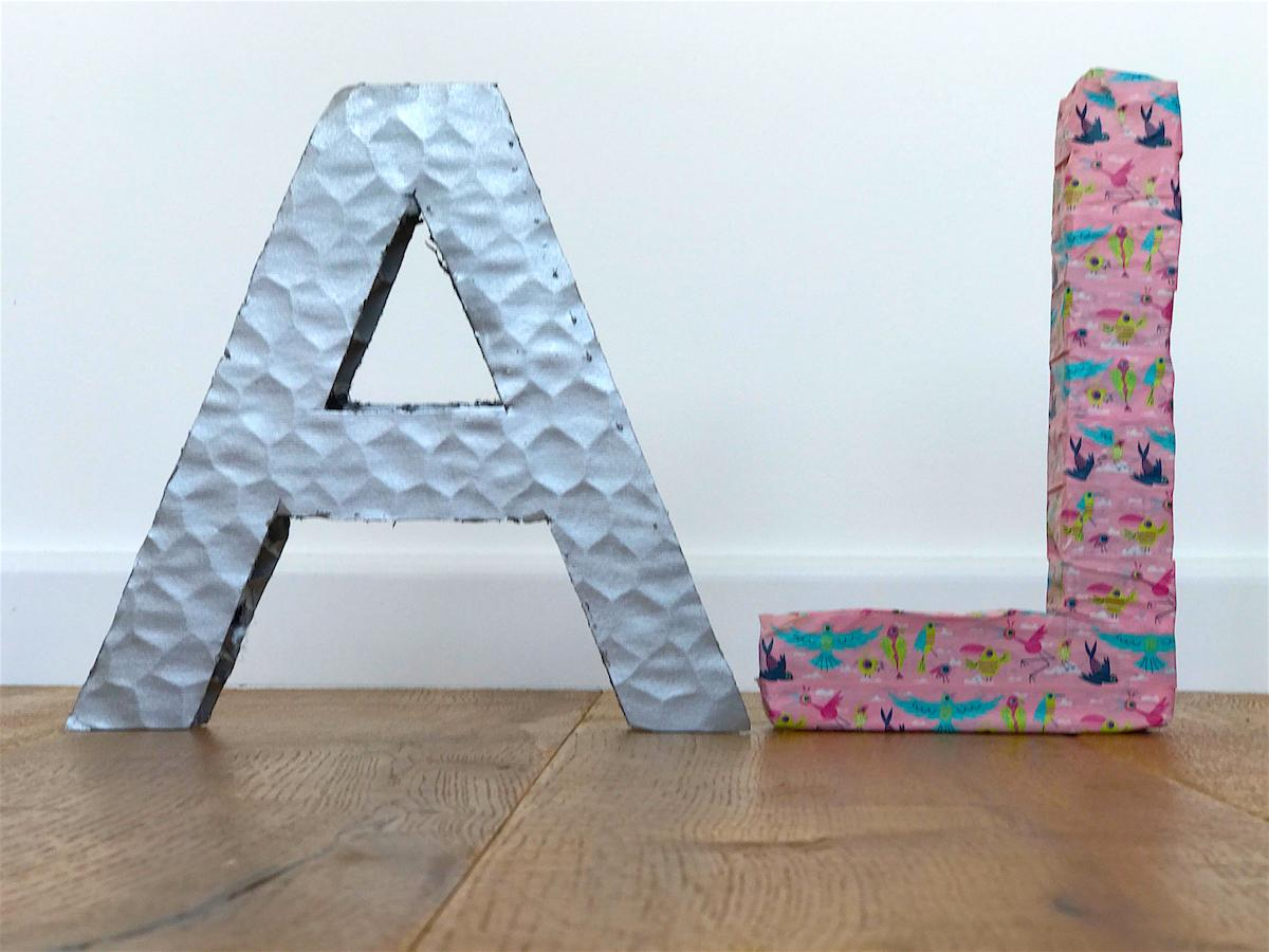 letters cardboard diy ikea kids home decor