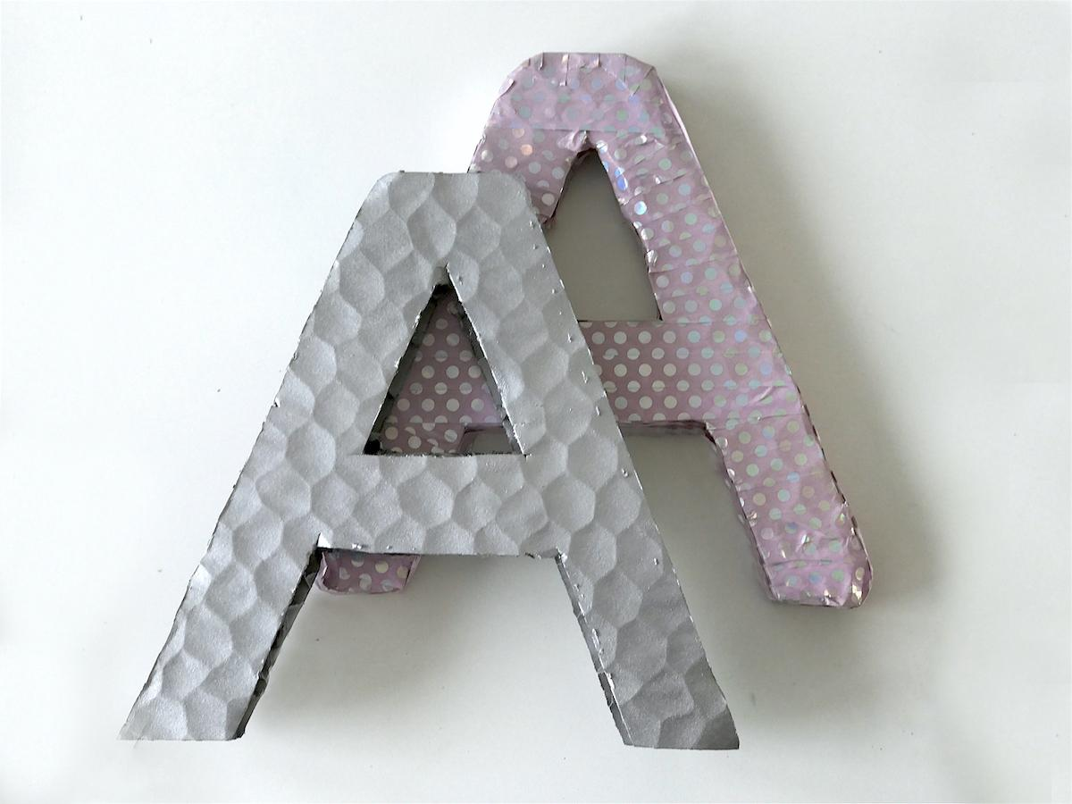 letters cardboard ikea diy home kids decor