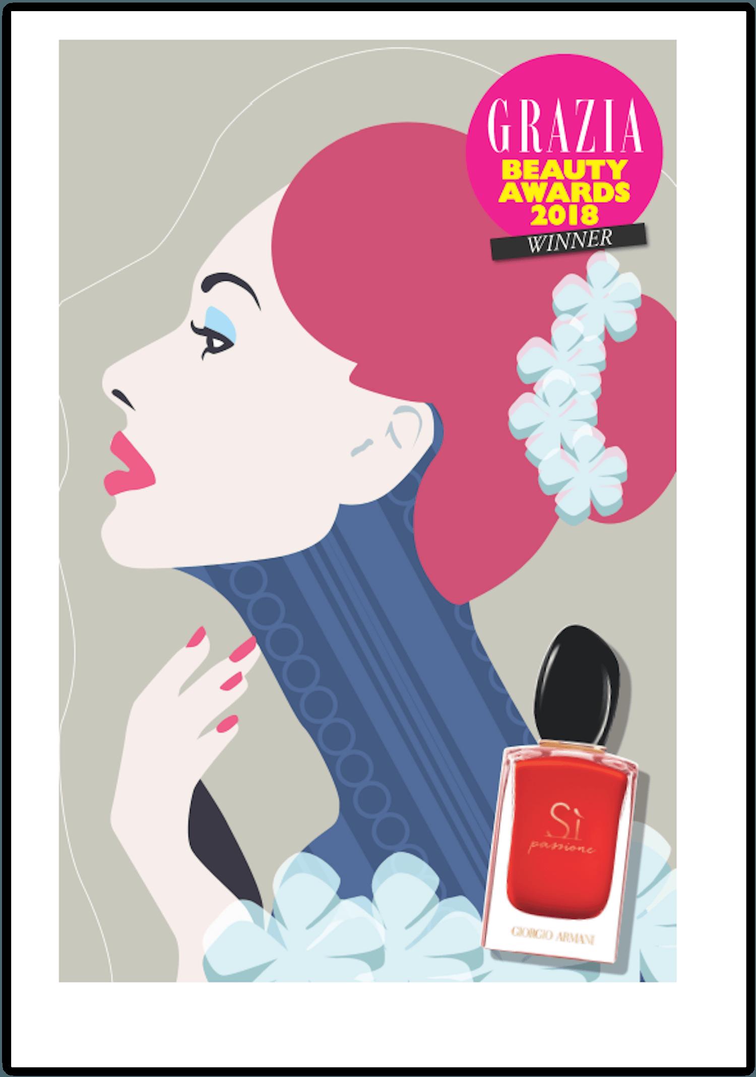 Grazia Beauty Awards 2018 Beautyfyllblog giorgio armani si passione