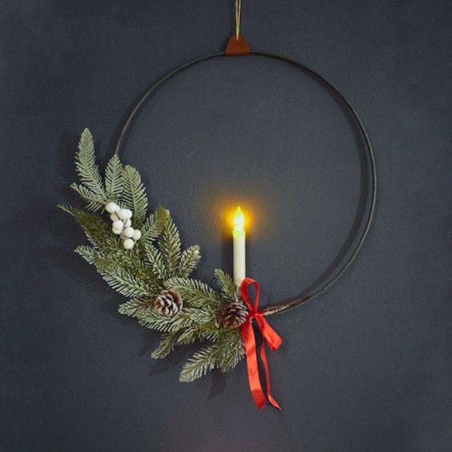 enostaven minimalisticen trenden adventni venček smrekova vejica brin Beautyfullblog