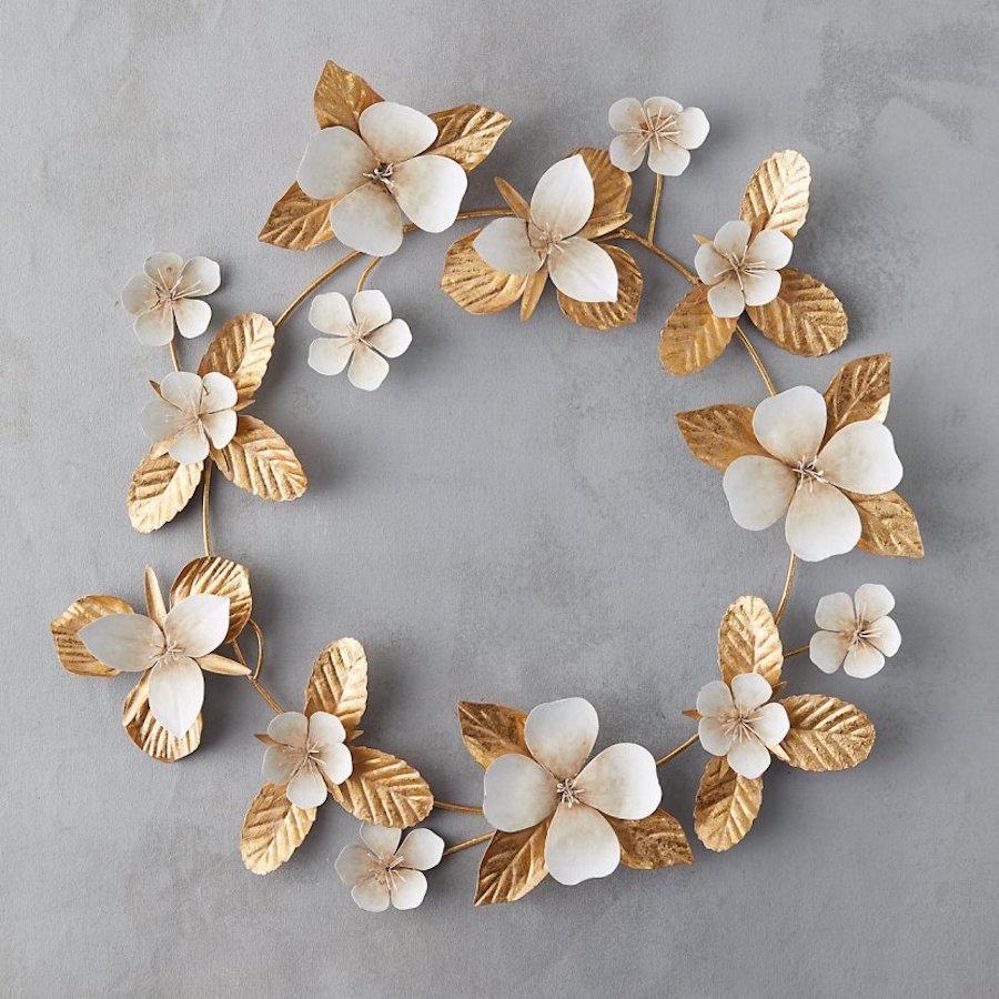 zlat preprost adventni vencek Beautyfullblog papirne rože