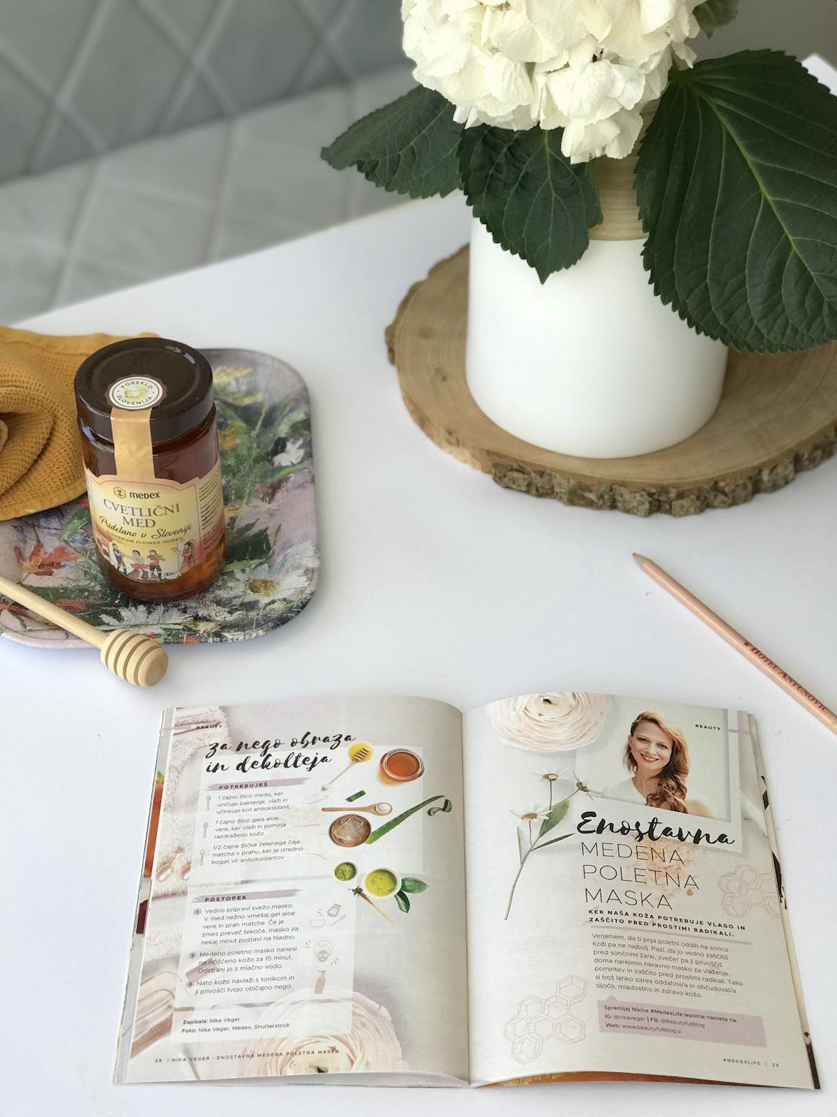 medena poletna maska med matcha zeleni čaj aloe vera beautyfull blog
