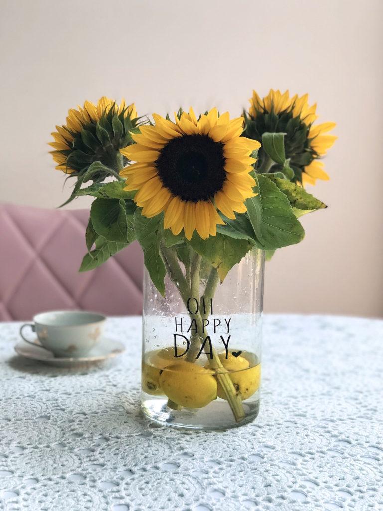 cvetlicarna gardenia diy sopek beautyfull sončnice limone vaza
