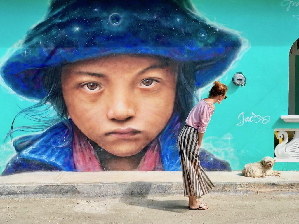 Mehika Holbox druzinske pocitnice beautyfull blog nika veger mural art