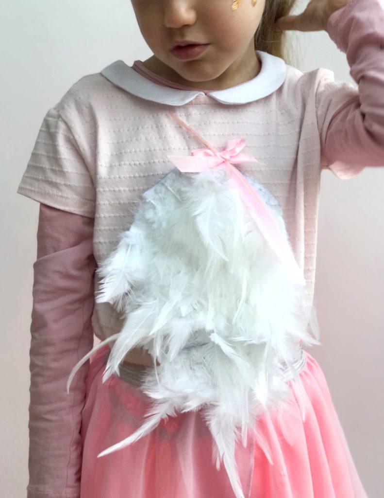 pustni kostum DIY flamingo otroški beautyfull blog nika veger