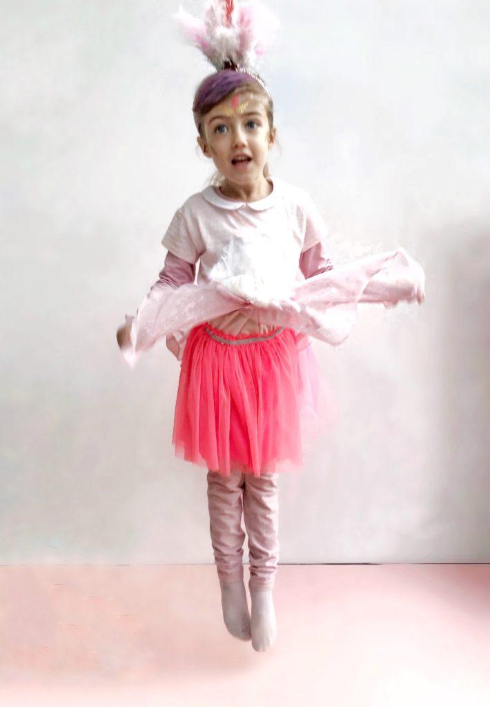 pustni kostum DIY flamingo otroški beautyfull blog nika veger otroški