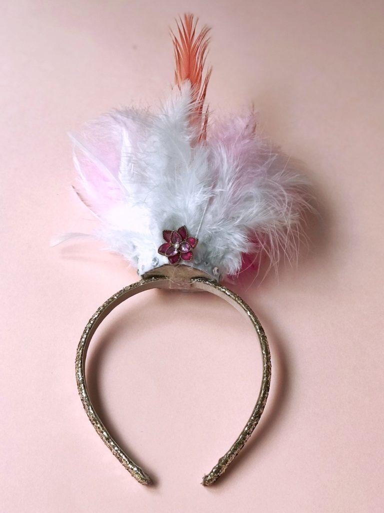 pustni kostum DIY flamingo otroški beautyfull blog nika veger krona