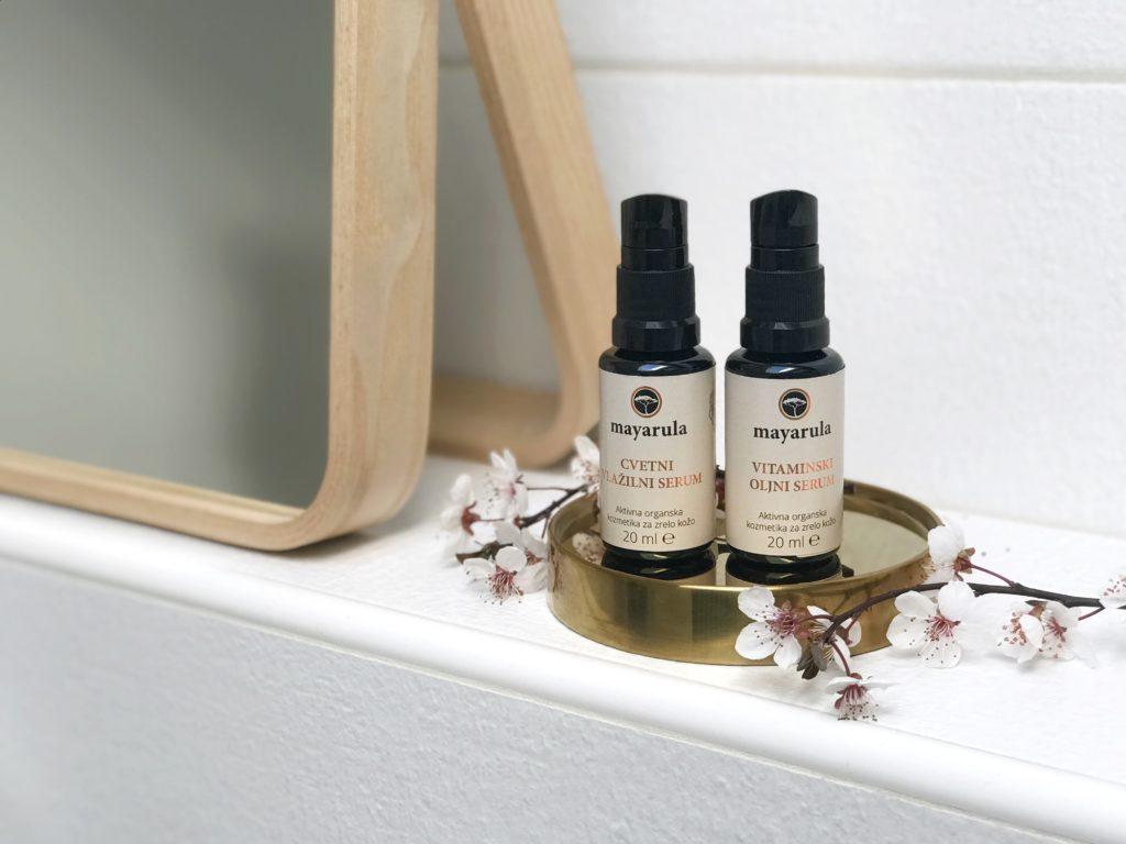 slovenska kozmetika Mayarula cvetni vlažilni serum oljni vitaminski slovenska kozmetika