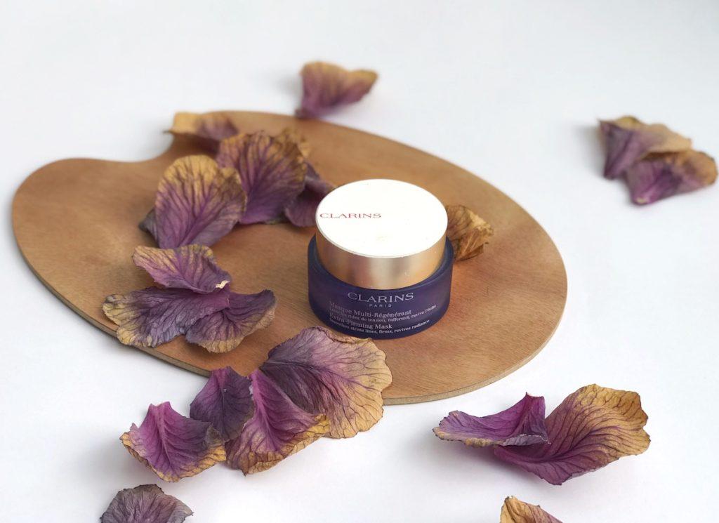 clarins maska vijoličasta vijola kozmetika nika veger beautyfull blog extreme firming takoj pomladi