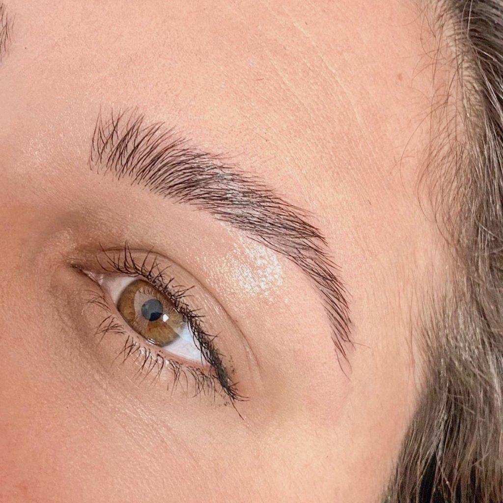 laminacija oblikovanje obrvi lux brows barvish beautyfull blog nika veger  potem