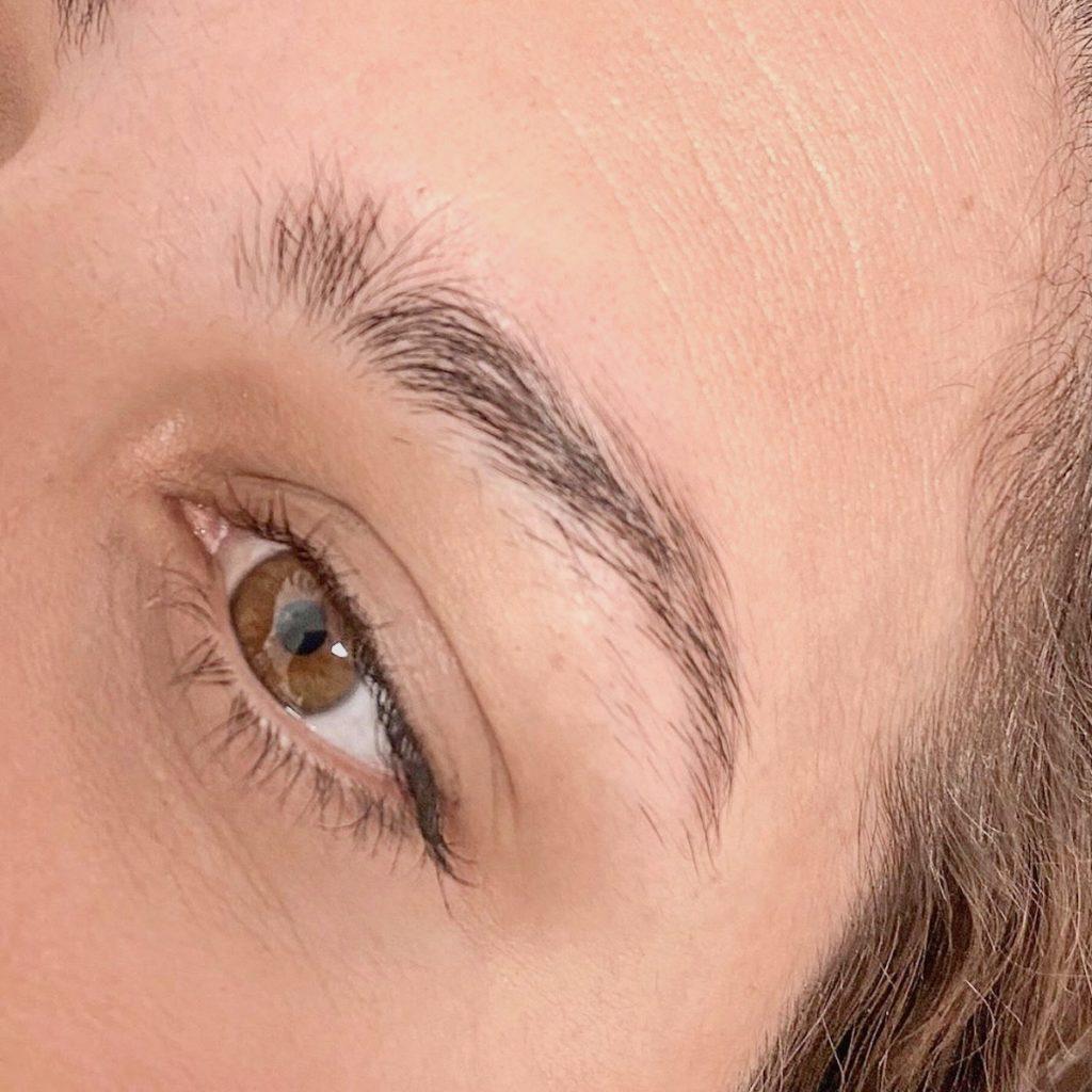 laminacija oblikovanje obrvi lux brows barvish beautyfull blog nika veger  prej