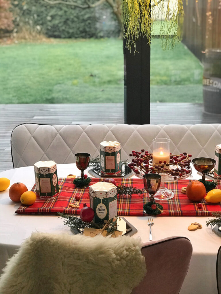 Erborian praznična postavitev mize božič novo leto nika veger beautyfull blog