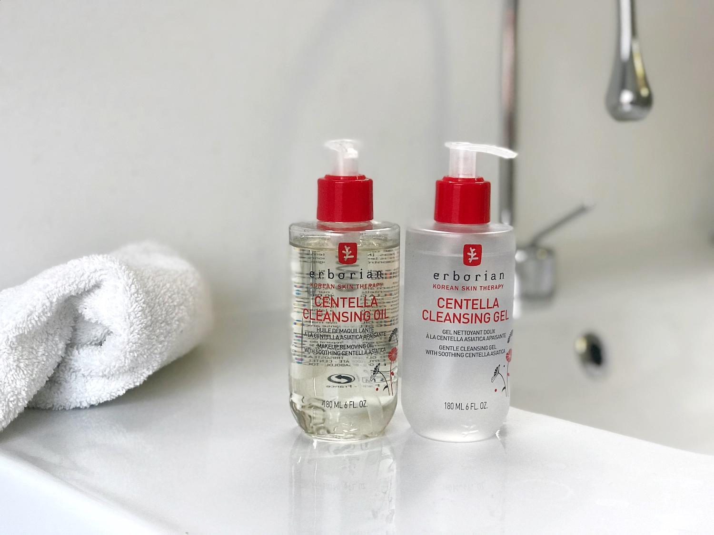 erborian čiščenje obraza dvojno centella olje gel nika veger beautyfull blog