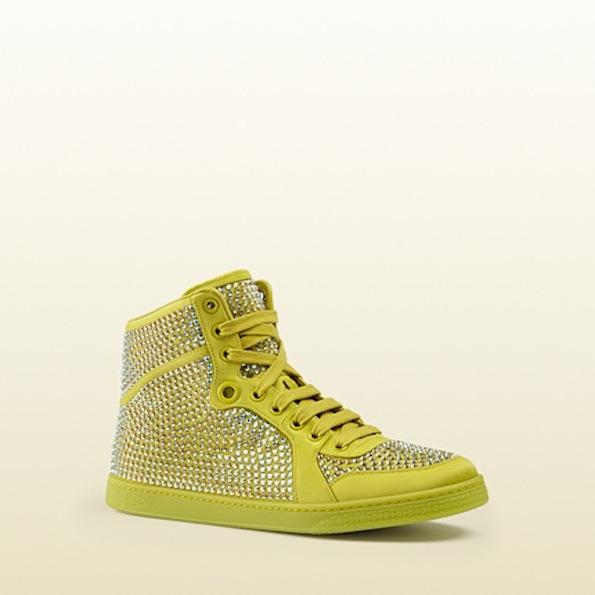 Gucci Coda Satin Effect Fabric High-top Sneaker, 895 €