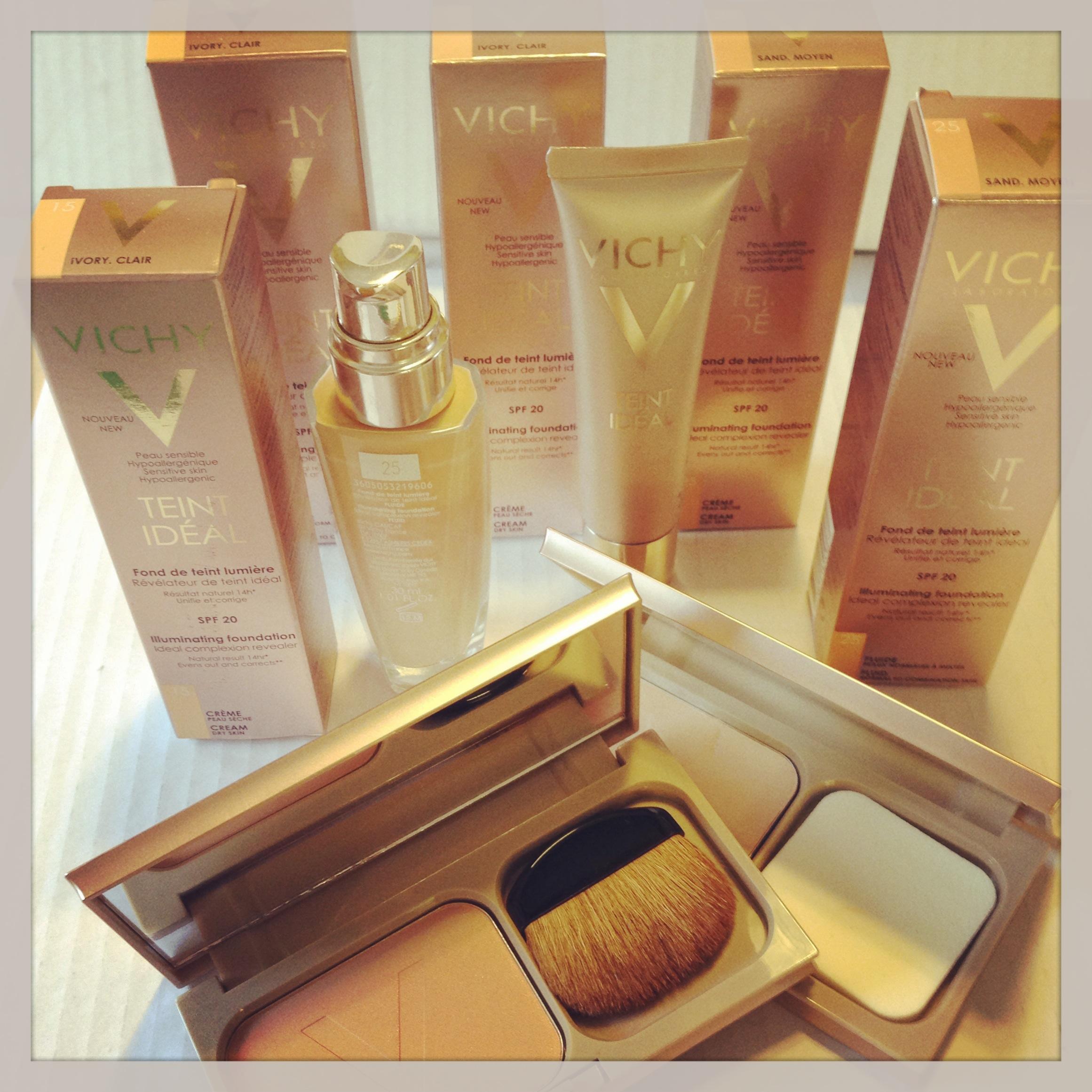 kako do popolnega nanosa pudra Vichy Teint Ideal by Beautyfullblog